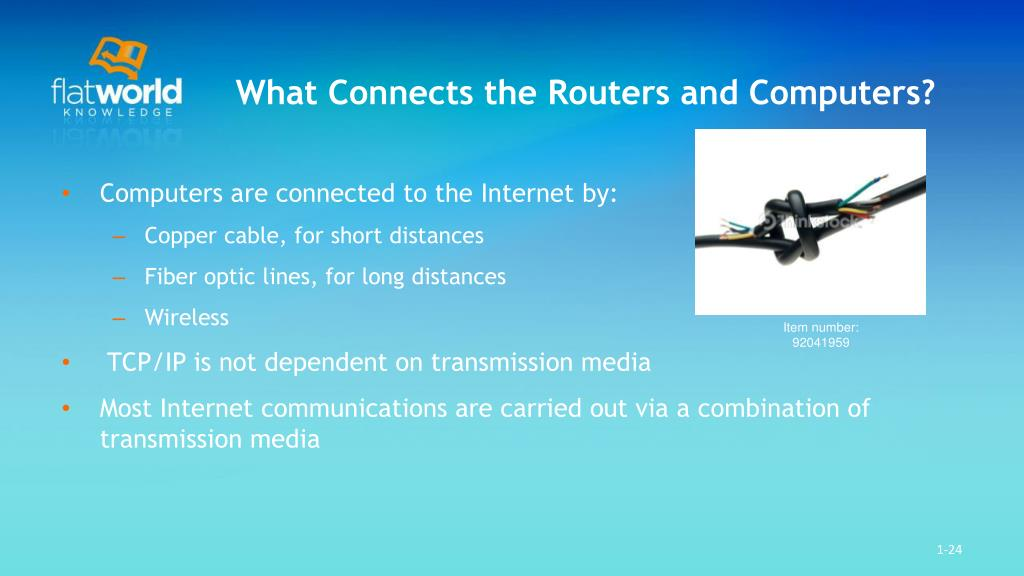 What Connects the Routers and Computers?