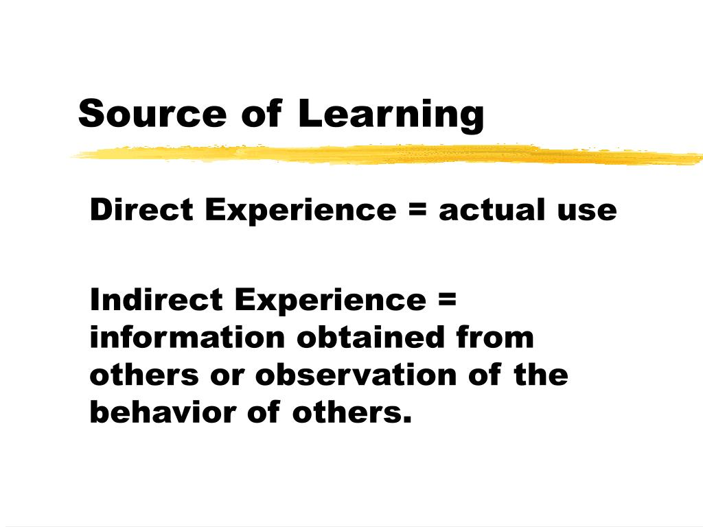 Source of Learning