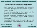 convening the partnership objectives