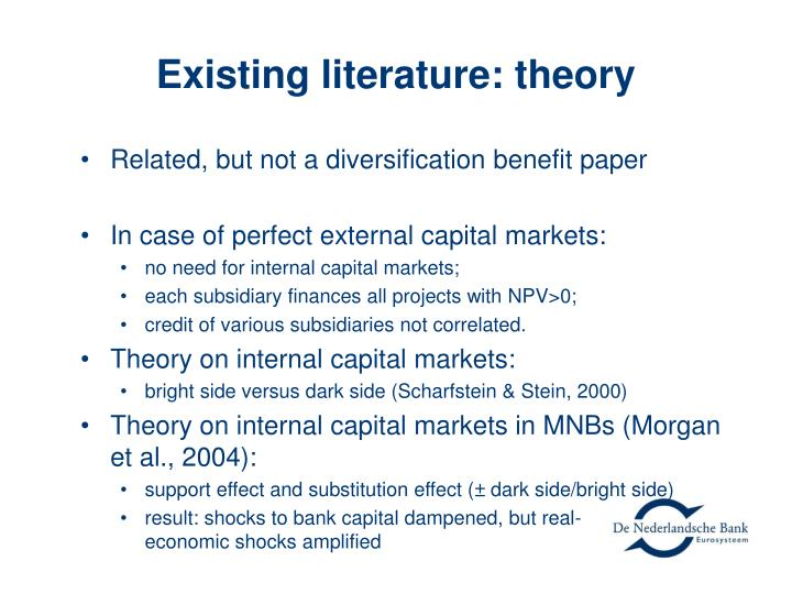 Existing literature: theory