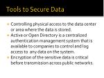 tools to secure data1