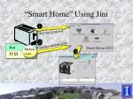 smart home using jini