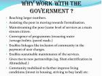 why work with the government