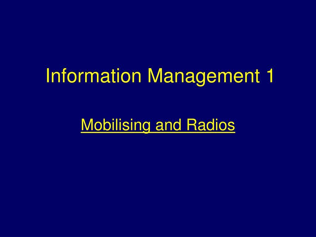 information management 1 l.
