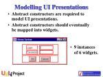 modelling ui presentations