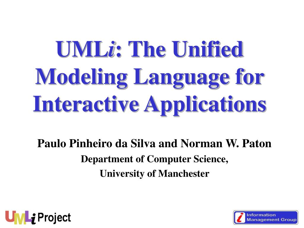 uml i the unified modeling language for interactive applications l.