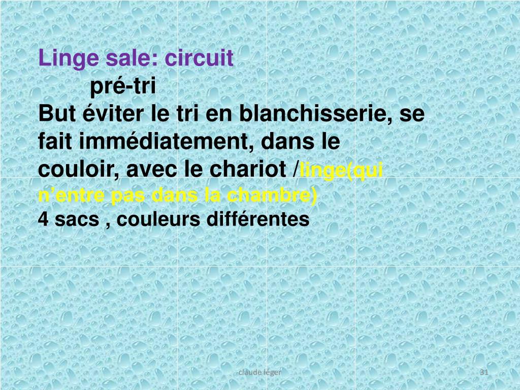 Linge sale: circuit