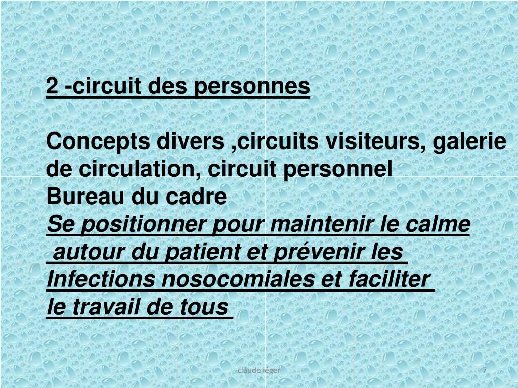 2 -circuit des personnes