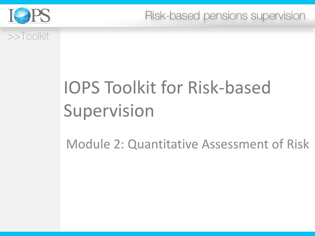iops toolkit for risk based supervision