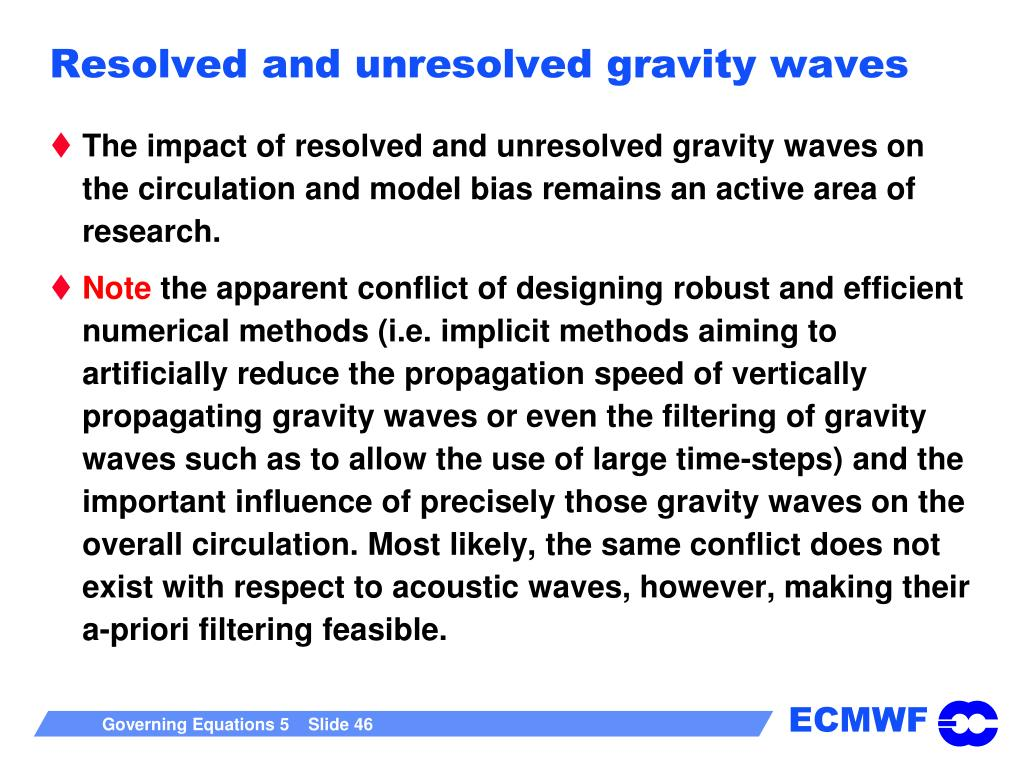 Resolved and unresolved gravity waves