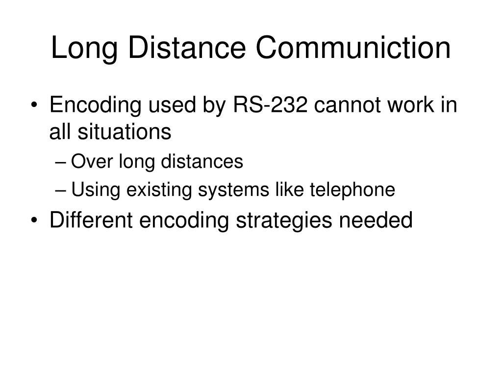 long distance communiction l.