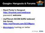 google hangouts forums