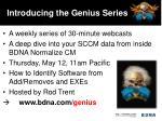 introducing the genius series