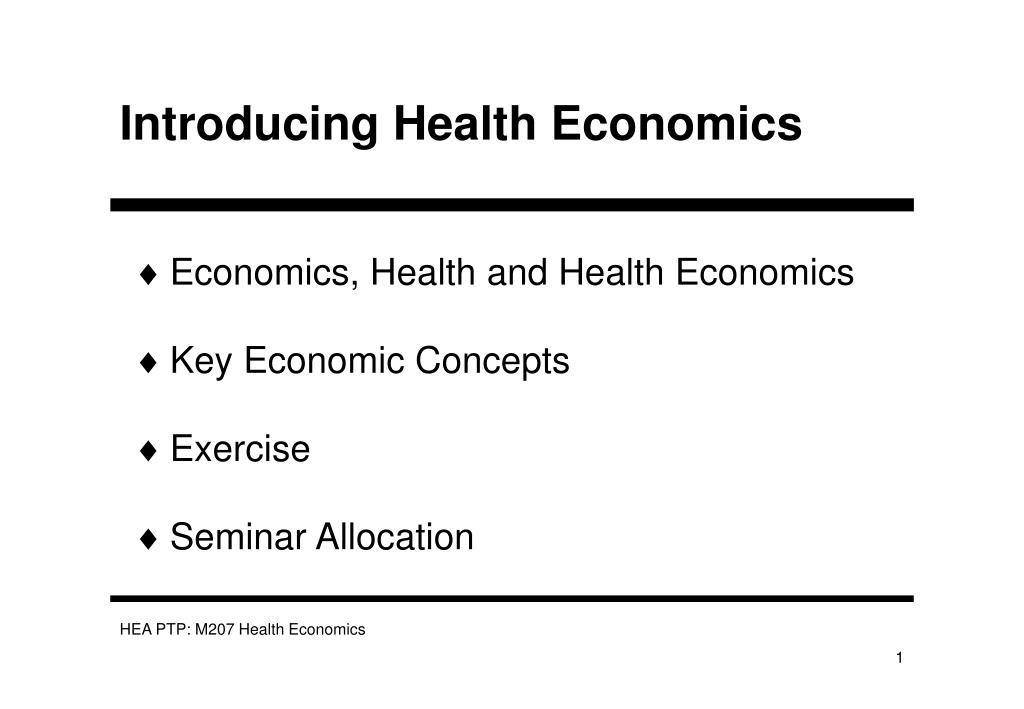 introducing health economics l.