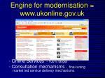 engine for modernisation www ukonline gov uk