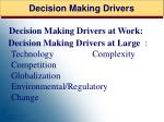 decision making drivers