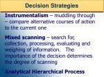 decision strategies53