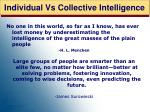 individual vs collective intelligence