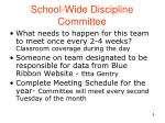 school wide discipline committee