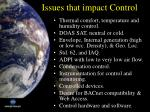 issues that impact control