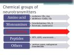 chemical groups of neurotransmitters29