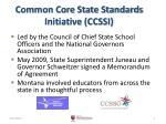 common core state standards initiative ccssi