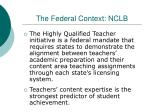 the federal context nclb