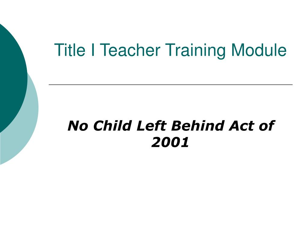 title i teacher training module l.
