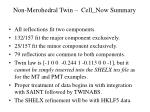 non merohedral twin cell now summary