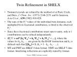 twin refinement in shelx