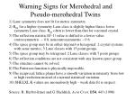 warning signs for merohedral and pseudo merohedral twins