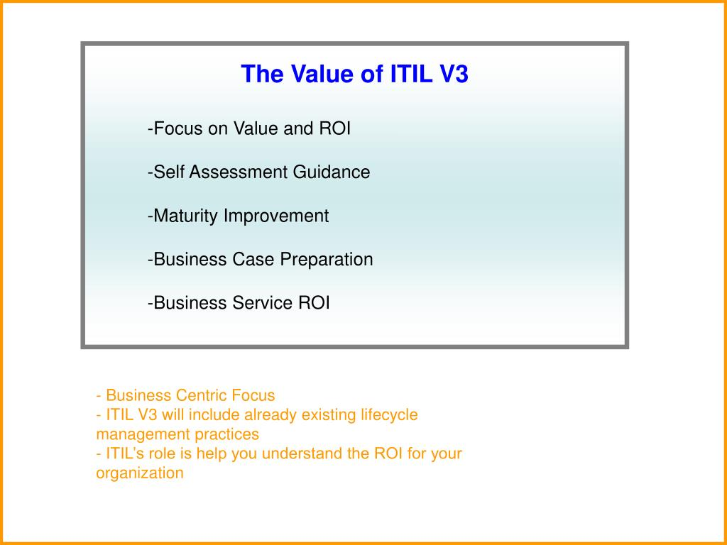 The Value of ITIL V3