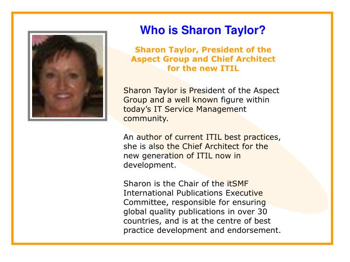 Who is Sharon Taylor?