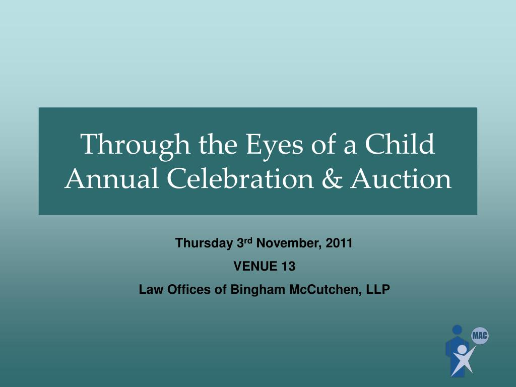 through the eyes of a child annual celebration auction l.