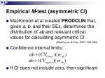 empirical m test asymmetric ci24