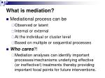 what is mediation5