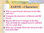 earth characters