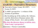 earth narrative structure