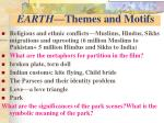 earth themes and motifs