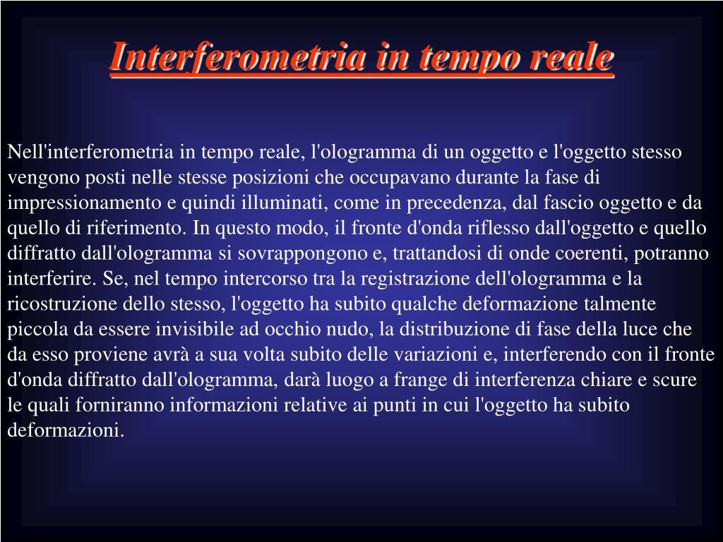 Interferometria in tempo reale