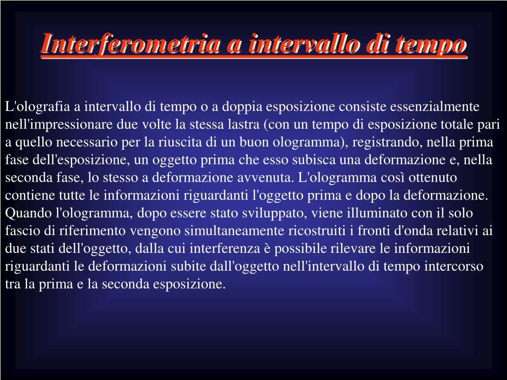 Interferometria a intervallo di tempo