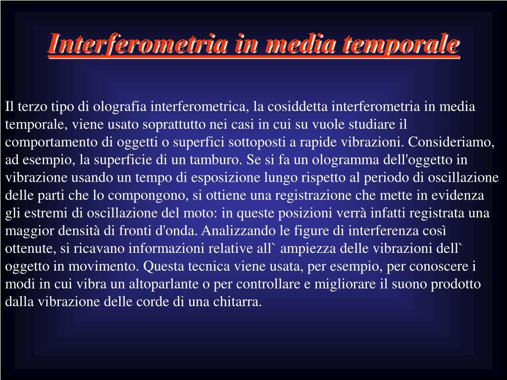 Interferometria in media temporale