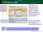 the sap bi core toolset