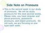 side note on pronouns