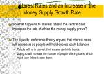 interest rates and an increase in the money supply growth rate