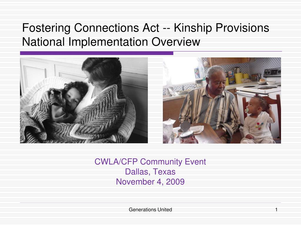 fostering connections act kinship provisions national implementation overview l.