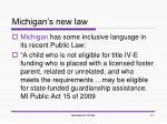 michigan s new law