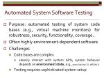 automated system software testing