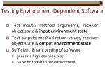 testing environment dependent software