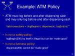 example atm policy32